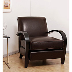 Bloomington Leather Chair Dark Brown