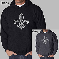 Los Angeles Pop Art 'Fleur de Lis' Men's Hoodie