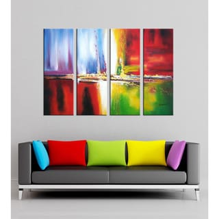 Abstract Hand-painted Oil on Canvas Art Set