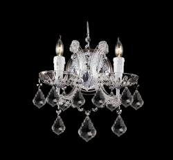 Chrome Finish 2-light Clear Crystals Wall Sconce