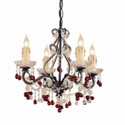 Wrought Iron 4-light Mini Chandelier