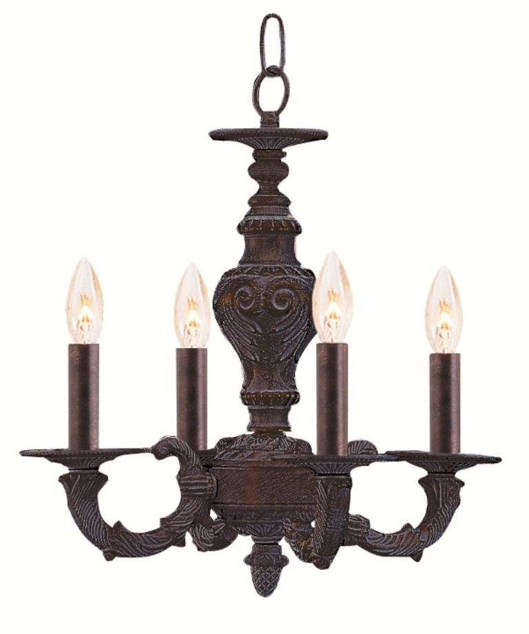Venetian Bronze Chandelier: Venetian Bronze Four-light Chandelier
