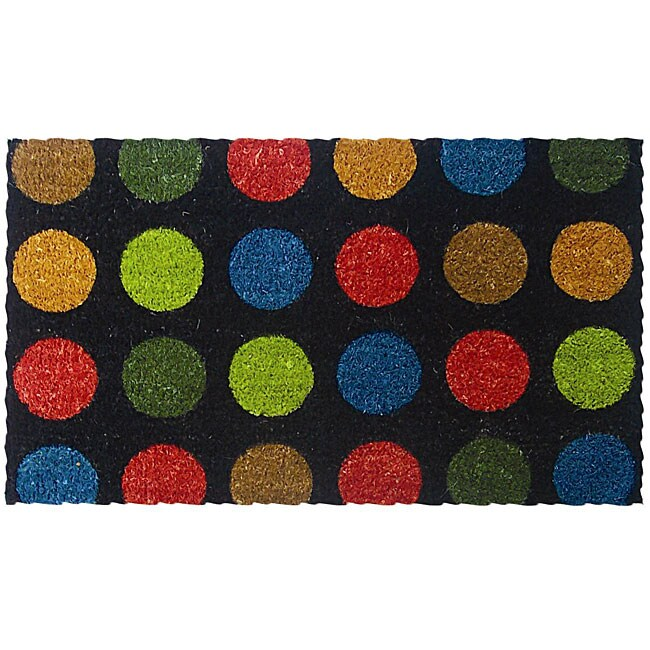 Dots in Color Door Mat (1'6 x 2'6)