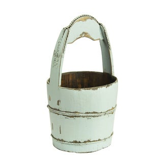 Natural Stained Wooden Handle Bucket
