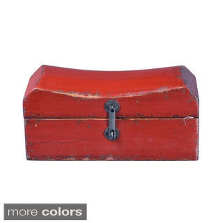 Asian-style Antique Black Old Pillow Box