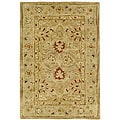 Handmade Majesty Light Brown/ Beige Wool Rug (2' x 3')