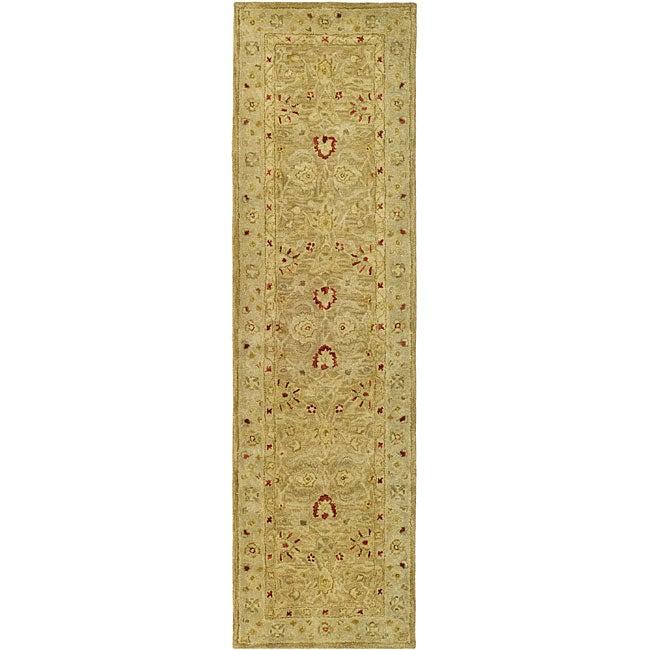 Safavieh Handmade Majesty Light Brown/ Beige Wool Runner (2'3 x 16')