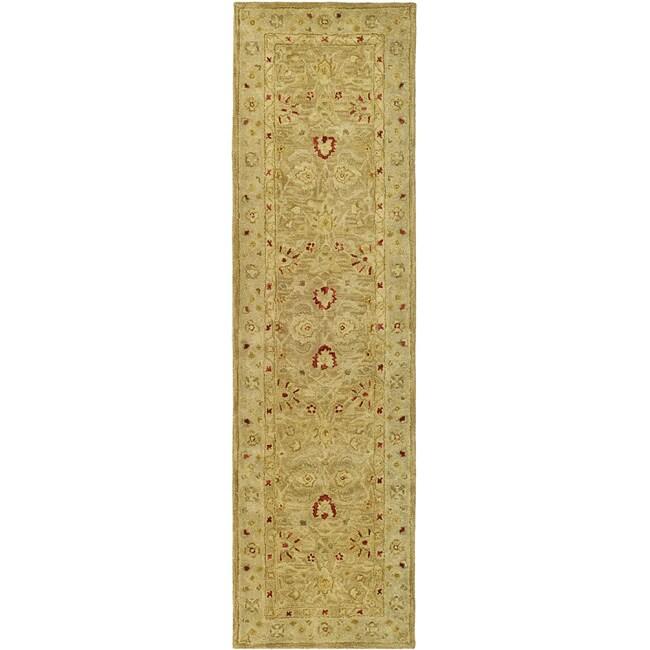Safavieh Handmade Majesty Light Brown/ Beige Wool Runner (2'3 x 22')