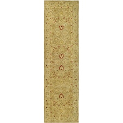 Safavieh Handmade Majesty Light Brown/ Beige Wool Runner (2'3 x 22')