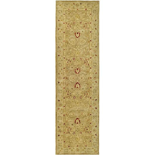 Safavieh Handmade Majesty Light Brown/ Beige Wool Runner (2'3 x 14')