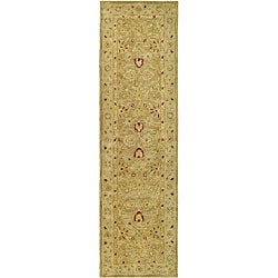 Handmade Majesty Light Brown/ Beige Wool Runner (2'3 x 14')