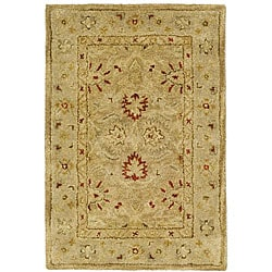 Handmade Majesty Light Brown/ Beige Wool Runner (2'3 x 4')
