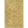 Handmade Majesty Light Brown/ Beige Wool Rug (3' x 5')