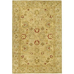 Handmade Majesty Light Brown/ Beige Wool Rug (4' x 6')