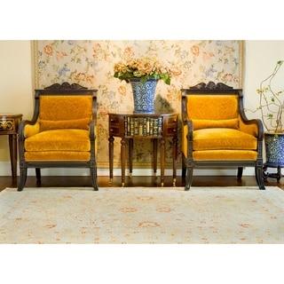 Safavieh Handmade Majesty Light Brown/ Beige Wool Rug (4' x 6')