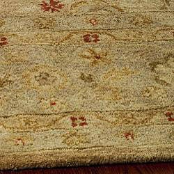 Handmade Majesty Light Brown/ Beige Wool Rug (5' x 8')