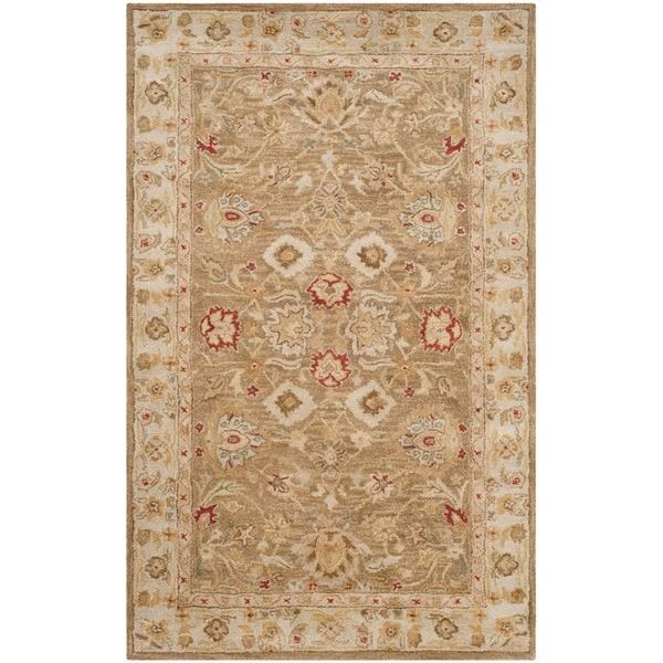 Safavieh Handmade Majesty Light Brown/ Beige Wool Rug (5' x 8')