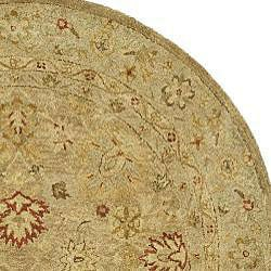 Safavieh Handmade Majesty Light Brown/ Beige Wool Rug (6' Round)