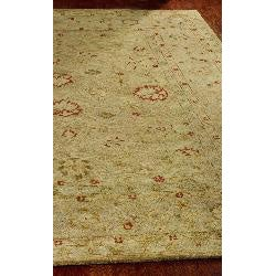 Handmade Majesty Light Brown/ Beige Wool Rug (6' Square)