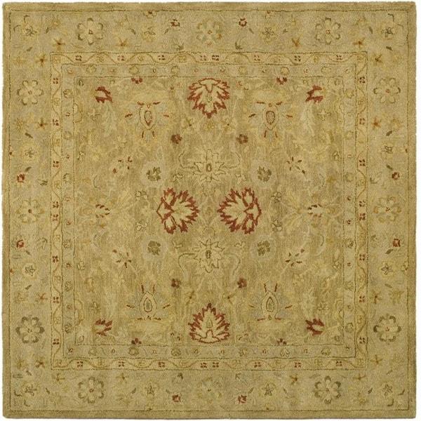 Safavieh Handmade Majesty Light Brown/ Beige Wool Rug (6' Square)