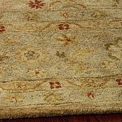 Handmade Majesty Light Brown/ Beige Wool Rug (7'6 x 9'6)
