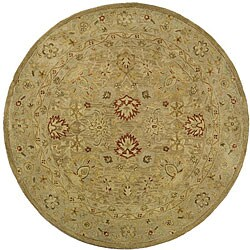 Safavieh Handmade Majesty Light Brown/ Beige Wool Rug (8' Round)