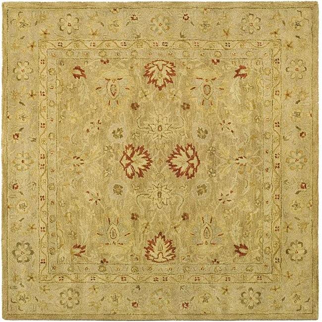 Safavieh Handmade Majesty Light Brown/ Beige Wool Rug (8' Square)