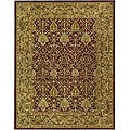 Handmade Mahal Red/ Gold New Zealand Wool Rug (6' x 9')