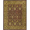 Handmade Mahal Red/ Gold New Zealand Wool Rug (7'6 x 9'6)
