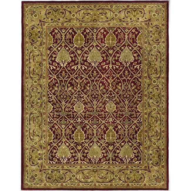 Safavieh Handmade Mahal Red/ Gold New Zealand Wool Rug (8'3 x 11')