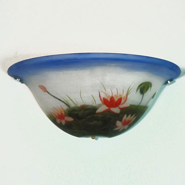 Hand-painted Half Moon Lotus Accent Light