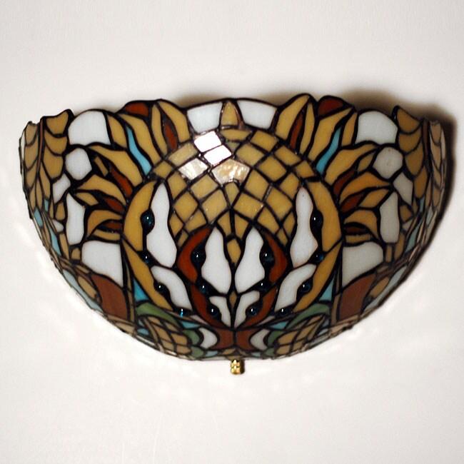 Stained Glass Thunder Bird Design LED Wall Light
