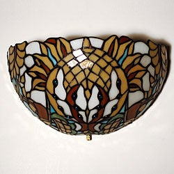 Stained Glass Thunder Bird Design LED Wall Light