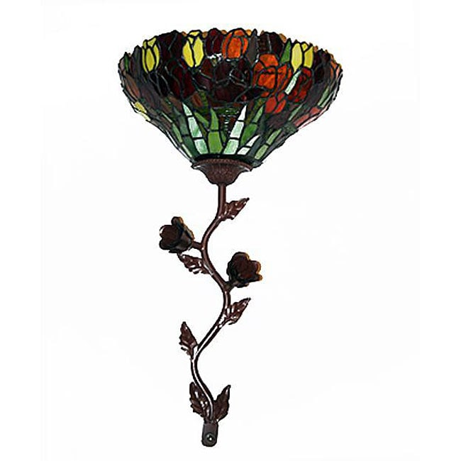 Stained Glass Tulip Wallchiere LED Wall Light - 12303891 ...