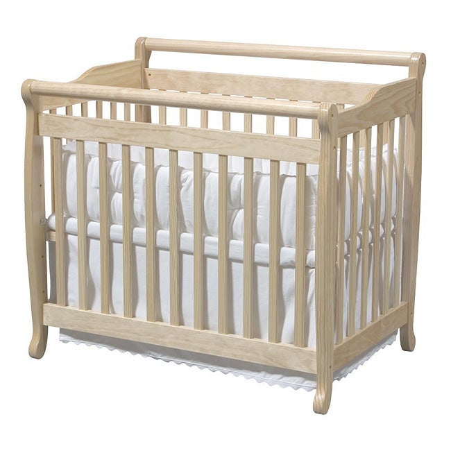 ... Side Crib Nursery Furniture Natural Oak Wood Baby Toddler Bed Twin