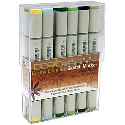 Earthy Elements Double-end Marker Set (Pack of 12)
