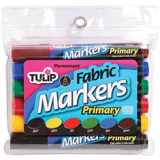 Duncan Primary Colors Tulip Large Fade-Resistant Fabric Markers (Pack of 6)