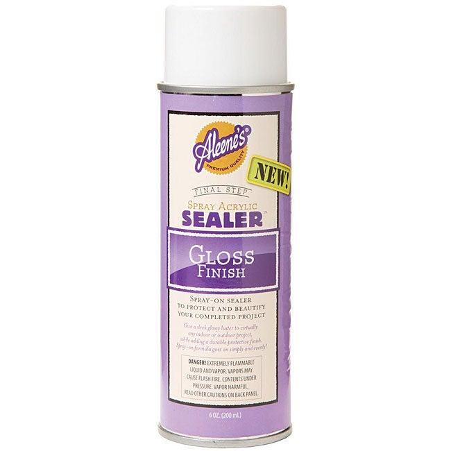 aleene 39 s gloss 6 oz acrylic sealer spray overstock shopping big. Black Bedroom Furniture Sets. Home Design Ideas