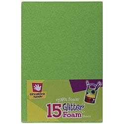 Bright Colors smART Foam Glitter Sheets (Pack of 15)