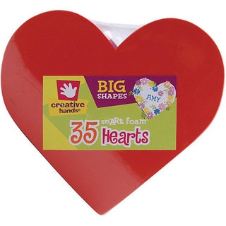 Creative Hands Big Shapes 'Hearts' Foam Shapes (Package of 35)