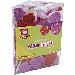 Creative Hands Hearts smART Foam Glitter Stickers