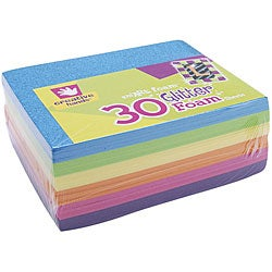 Creative Hands Bright Colors Glitter Foam Sheets (Pack of 30)