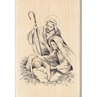 Inkadinkado Nativity Wood-mounted Rubber Stamp