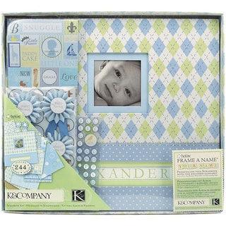 K&Company Little House Baby Boy 12x12 Postbound Scrapbook Kit