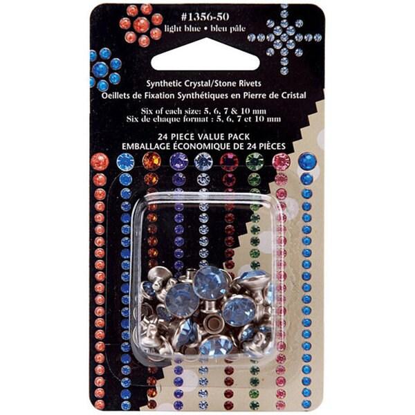 Light Blue Crystal Rivets (Pack of 24)