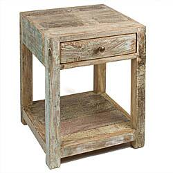 Stripped Teak Side Table (India)