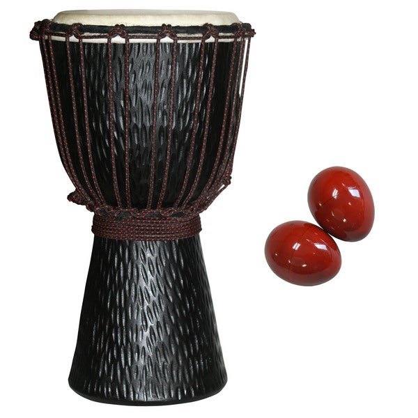World Rhythm Djembe with Free Egg Shakers (Indonesia)