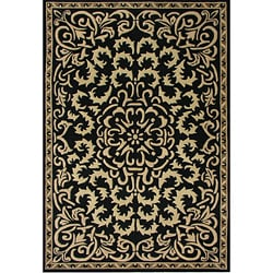 Alliyah Handmade Black New Zealand Blend Wool Rug (10' x 8')