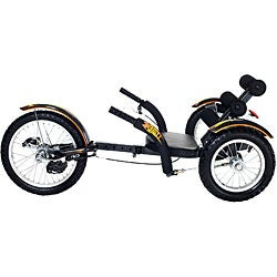 Mobo Mobito Ultimate 3-wheeled Black Cruiser