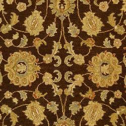 Indo Handmade Sumak Flatweave Brown/ Beige Rug (6' x 9')
